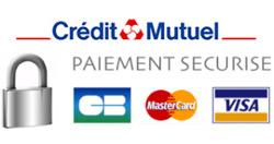 Paiement par carte bancaire 100 % sécurisé par le credit mutuel